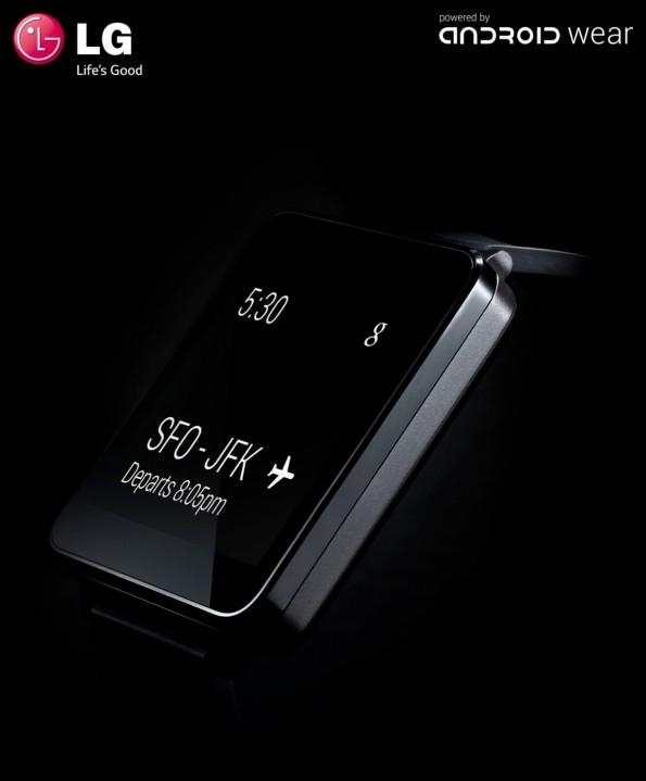 Die LG G Watch ist das zweite Modell, das Google  schemenhaft vorstellte. (Quelle: LG)