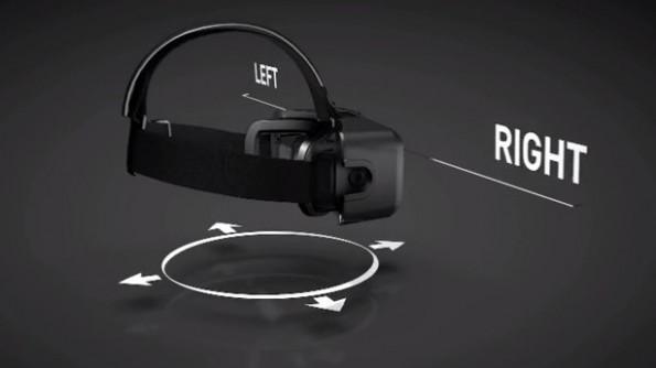 Die Oculus Rift zeichnet jegliche Bewegung des Kopfes auf. Sie weiß, wohin wir schauen. (Screenshot: youtube.com)