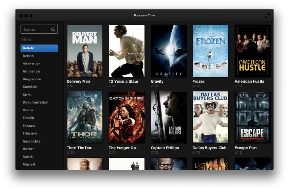 popcorn time illegale streaming app macht vor wie video on demand aussehen sollte t3n. Black Bedroom Furniture Sets. Home Design Ideas