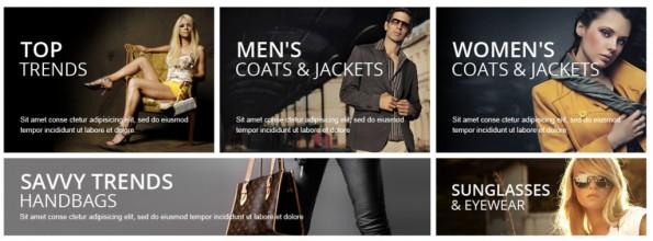 Über ein internes Banner-Marketing ist beispielsweise die Darstellung von Produktwelten auf der Startseite möglich. (Screenshot: Prestashop)