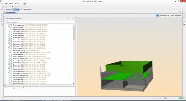 Das Sablono-Modell erfasst jedes einzelne Bauteil. (Screenshot: Sablono)