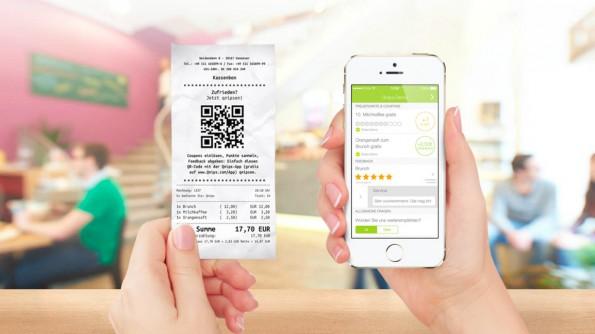 Startups auf der CeBIT: Qnips aus Hannover verbindet Couponing mit Mobile Payment und Kundenfeedback. (Screenshot: Qnips)