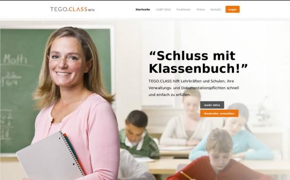 Startups auf der CeBIT: Tego Class macht Schluss mit dem Klassenbuch und bietet Lehrern eine intelligente Schülerverwaltung. (Screenshot: Tego Class)