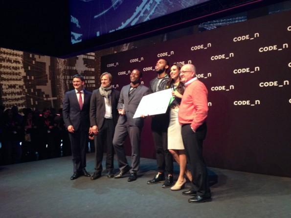 Große Freude: Viewsy gewinnt den CODE_n Award. (Foto: t3n)