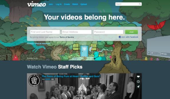 Für seinen YouTube-Angriff könnte Yahoo sogar Vimeo übernehmen. Das Portal ist der ärgste YouTube-Konkurrent. (Screenshot: Vimeo)
