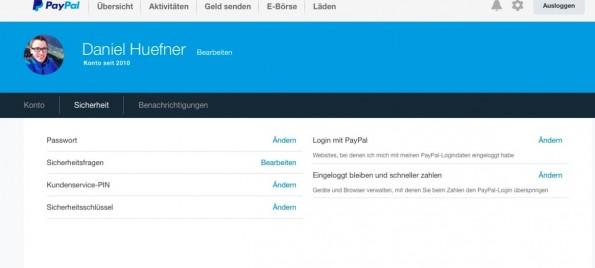 Zwei-Faktor-Authentifizierung einrichten: PayPal.