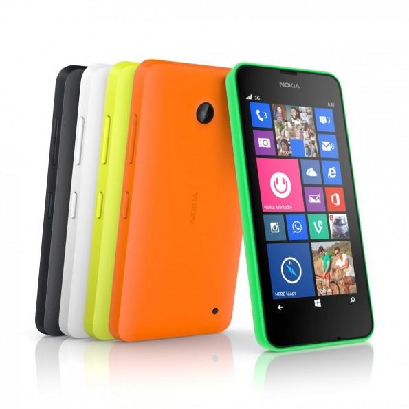 Nokia Lumia 630 und 335 kommen in verschiedenen Farben auf den Markt. (Bild: Nokia)