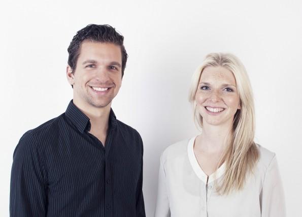 Das Amorelie-Gründerduo: Sebastian Pollok und Lea-Sophie Cramer. (Foto: amorelie.de)
