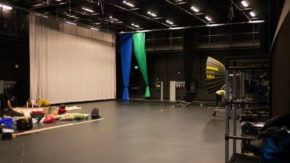 Das größte der sechs Studios im YouTube Creator Space ist fast 500 Quadratmeter groß. (Foto: Moritz Stückler)