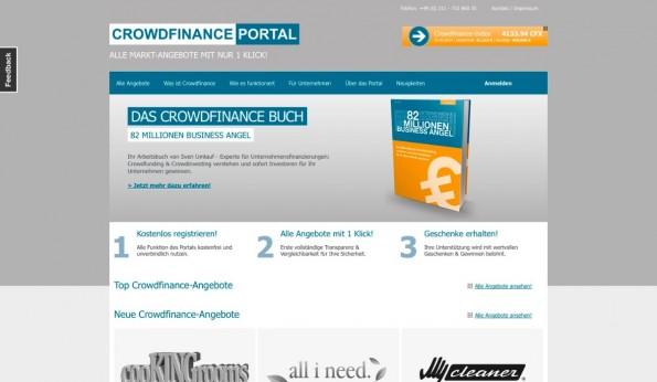 """Als """"Aggregator"""" der Schwarmfinanzierung bringt das Crowdfinance-Portal die Bereiche Crowdfunding, -investing und -rating zusammen. (Screenshot: t3n)"""