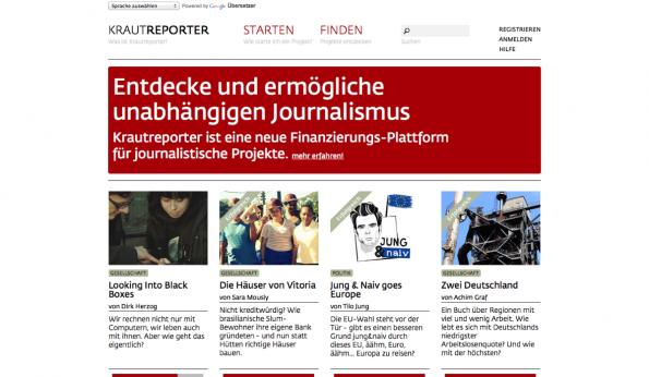 Auch Journalisten, Autoren und Freischreiber können von Crowdfunding profitieren. (Screenshot: t3n)
