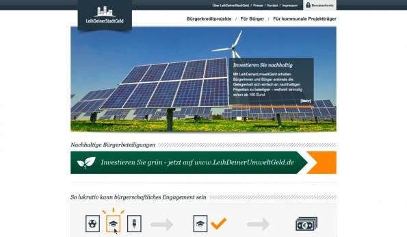 Dass auch Bürger ein Interesse daran haben, ihre Stadt mit Schwarmkapital zu fördern, zeigt die Plattform LeihDeinerStadtGeld. (Screenshot: t3n)