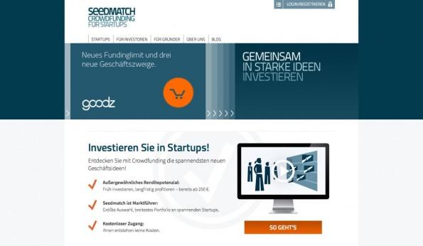 Seedmatch ist Deutschland populärste Crowdinvesting-Plattform. 50 Startups konnten schon finanziert werden. (Screenshot: t3n)
