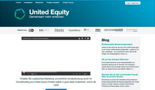 Bevor Startups auf United Equity an Geld kommen dürfen, müssen sie sich einem Crowd-Rating durch die Nutzer unterziehen. (Screenshot: t3n)