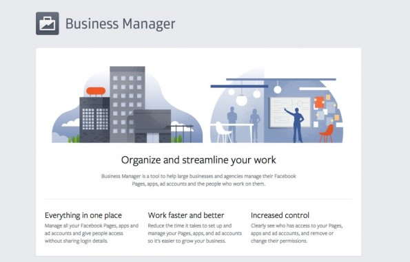 Die Website zum Facebook Business Manager. (Screenshot: business.facebook.com)