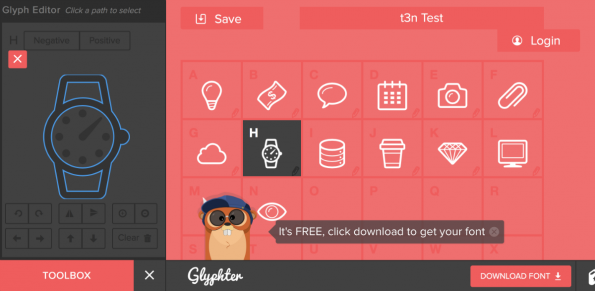 Glyphter Editor Screenshot