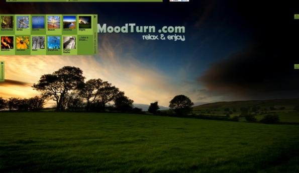 Bei MoodTurn findet jeder eine natürliche Geräuschkulisse, die zu ihm passt. (Screenshot: MoodTurn)