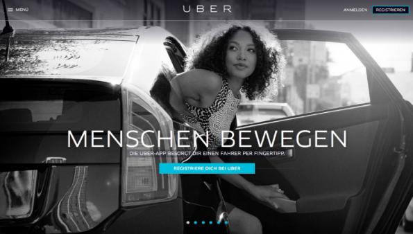 Der Europa-Expansion von Uber endet im Taxi-Chaos: Der Dienst ist vielerorts inzwischen verboten, nun fürchten auch andere Startups um die Existenz. (Screenshot: t3n)