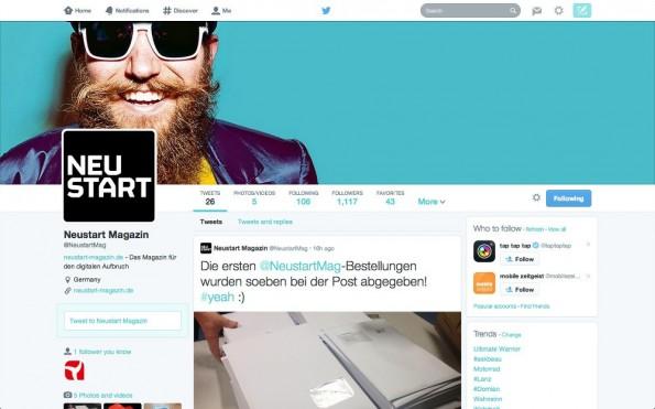 Twitter: So sieht die neue Profilseite aus. (Screenshot: Twitter)