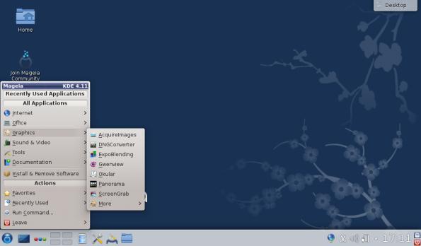 """So sieht Mageia mit dem Desktop """"KDE"""" aus. (Bild: Mageia)"""