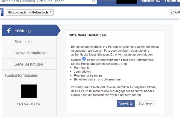 Facebook-Betrug: Kriminelle erklären den Verifizierungsprozess. (Screenshot: Mimikama)