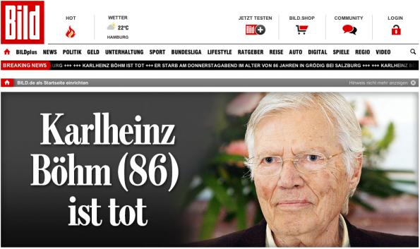 Bild.de bezieht satte 70,3 Prozent seiner Besucher über einen Direct-Traffic. (Screenshot: Bild.de)