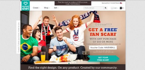 Auch Spreadshirt richtet sich weiter auf E-Commerce-Internationalisierung aus. (Screenshot: Spreadshirt)