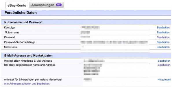 Bei eBay wurden Nutzerdaten entwendet und der Konzern bleibt wichtige Antworten schuldig. (Screenshot: ebay.de)