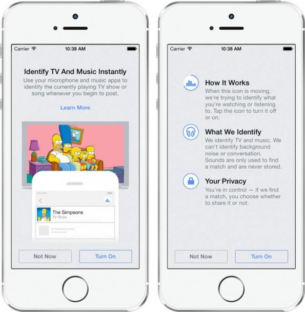 So sieht Facebooks Kampfansage an Shazam und Soundhound aus. (Foto: Facebook)