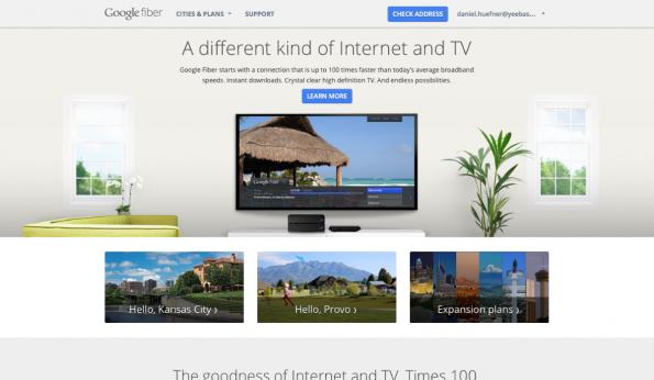 Mit Fiber baut sich Google seit einigen Jahren schrittweise ein eigenes Hochgeschwindigkeitsnetz auf. (Screenshot: t3n)