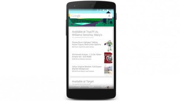 Google Now: Der digitale Assistent zeigt jetzt auch Läden an, die Produkte führen, nach denen Nutzer zuvor im Netz gesucht haben. (Bild: google)