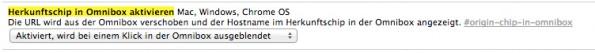 Das neue Omnibox-Verhalten kann natürlich auch wieder deaktiviert werden. (Screenshot: t3n)
