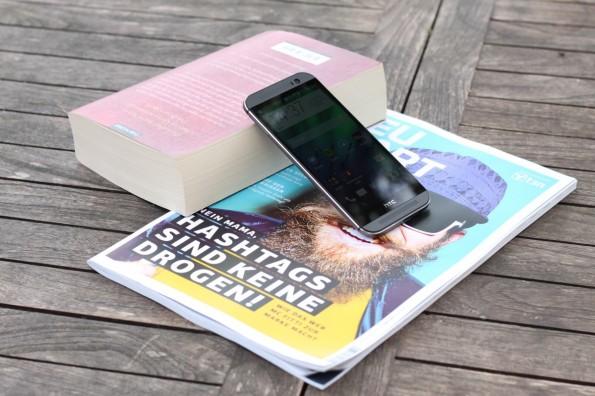 Die Haptik und das Design des HTC One M8 wissen zu überzeugen. (Foto: Johannes Schuba)