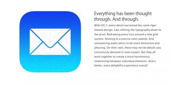 Alles besser mit iOS 7? Aktuell jedenfalls nicht, was die Mail-App angeht. (Screenshot: Apple)