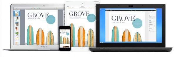 iWork für iCloud: Apple hat die Feature- und Speicherschraube erneut angezogen. (Foto: Apple)