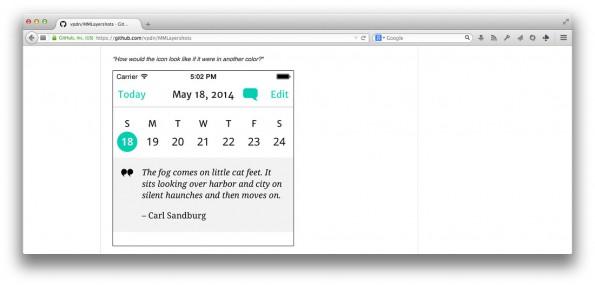 Layershots macht aus iOS-Apps eine PSD-Datei. (Screenshot: GitHub)
