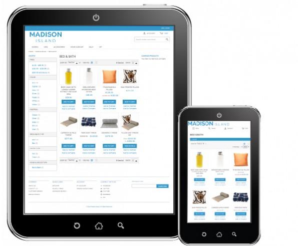Das Standard-Theme von Magento ist jetzt responsive. (Screenshot: Magento)