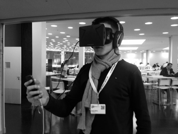 The virtual reality glasses Oculus Rift is tested by colleague Daniel Huefner His conclusion:.? Refreshingly new, but well worth two billion dollars (Photo: t3n)
