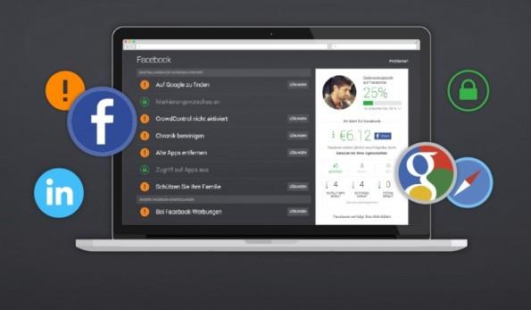 Der eigentliche Zweck von PrivacyFix besteht darin, Datenschutzeinstellungen von Facebook und Google sowie Tracking in einem einheitlichen Dashboard vorzunehmen. (Bild: AVG)