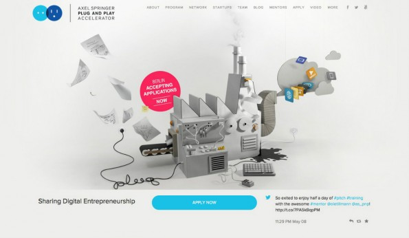 Der Plug-and-Play-Accelerator von Axel-Springer hat bereits 1.200 Startups geschult. (Screenshot: t3n)