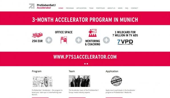 Mit 41 Millionen TV-Kunden wirbt die Einrichtung von ProSiebenSat1. Startups winkt eine TV-Kampagne. (Screenshot: t3n)