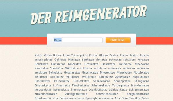 Wort- und Reimsuchmaschinen können bei der Suche nach dem Unternehmensnamen helfen. (Screenshot: t3n)