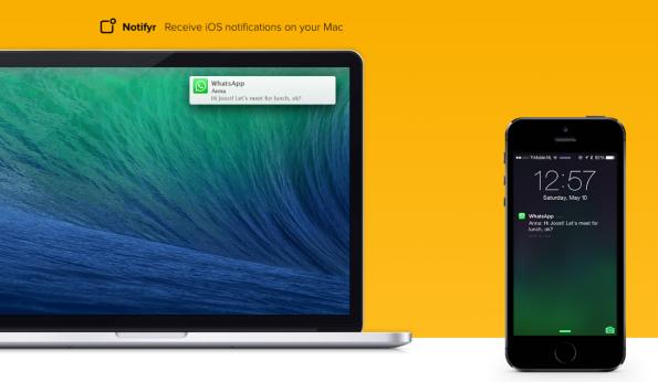 WhatsApp auf dem Mac: Dank Notifyr bleiben Nutzer auch ohne Smartphone in der Hand immer über aktuelle SMS und Nachrichten informiert. (Foto: Notifyr)