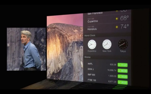 Das Notification Center kann in OS X 10.10 nun mithilfe von Widgets individualisiert werden. (Quelle: apple.com)