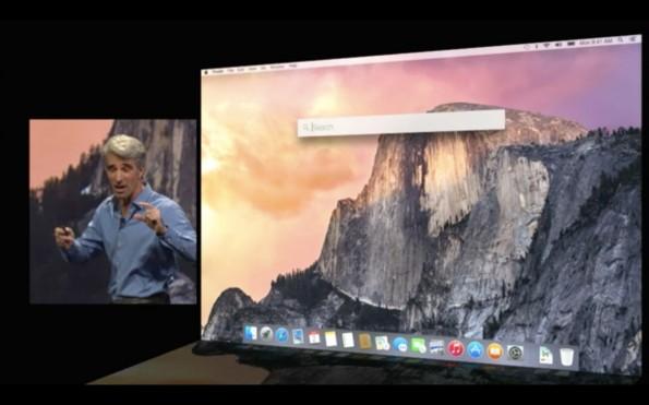 """Die überarbeitete Spotlight-Funktion erinnert stark an die """"Alfred""""-Anwendung. (Quelle: apple.com)"""