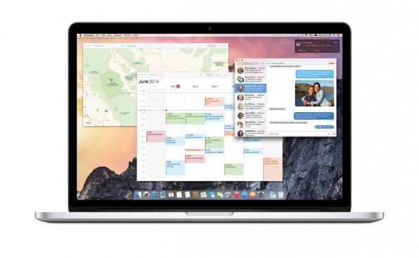 Der neue Look von OS X 10.10 ist flach, rechteckig und setzt auf dezente Transparenz-Effekte. (Quelle: apple.com)