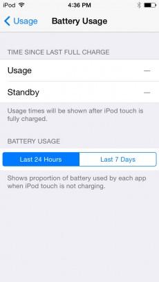 iOS 8 zeigt an, welche App wie viel Energie verbraucht. (Quelle: twitter.com/@edc1591)