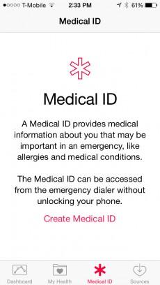 Die sogenannte Medical ID soll Einsatzkräften und Ersthelfern weiterhelfen, wenn eine Person nicht ansprechbar ist.
