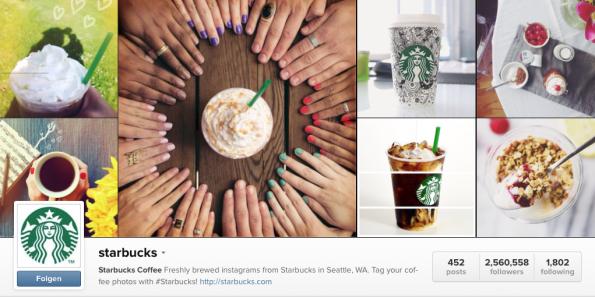 Starbucks ruft seine User auf ihre persönlichen Kaffee-Bilder zu posten. (Screenshot: http://instagram.com/starbucks)