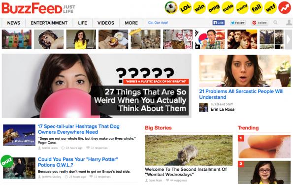 """Buzfeed ist in sachen Überschrift vor allem bekannt für Listicles – auch eine Form des """"Klick-mich!"""" (Screenshot: Buzzfeed)"""
